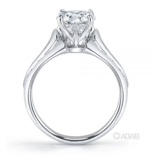 Round brilliant cut diamond solitaire ring