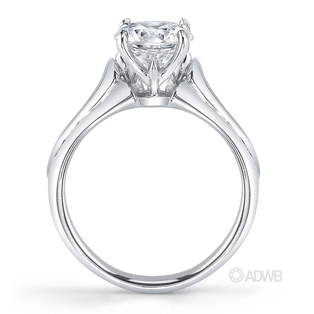 Round brilliant cut diamond solitaire ring