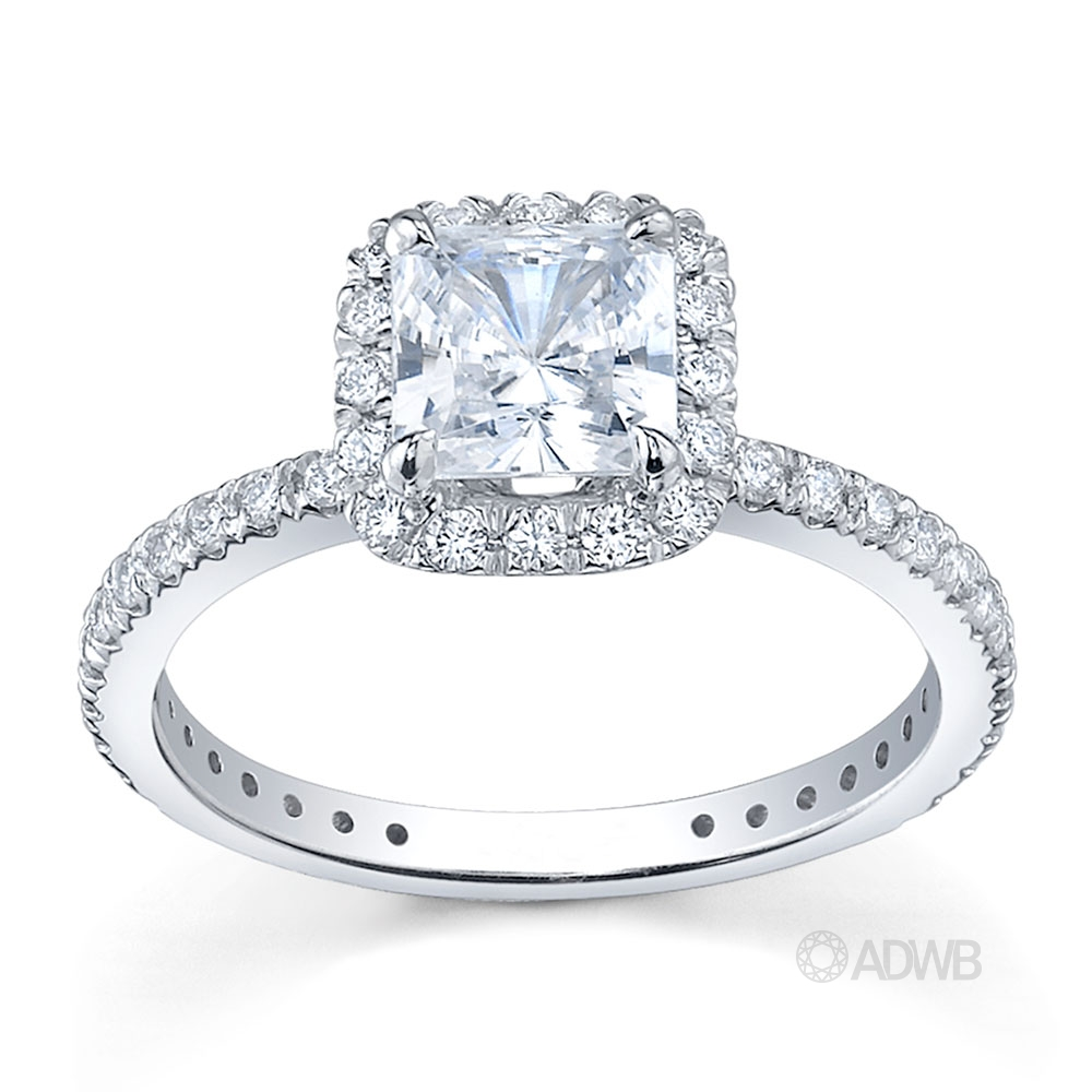 Australian Diamond Broker - Classic pave set halo diamond ring