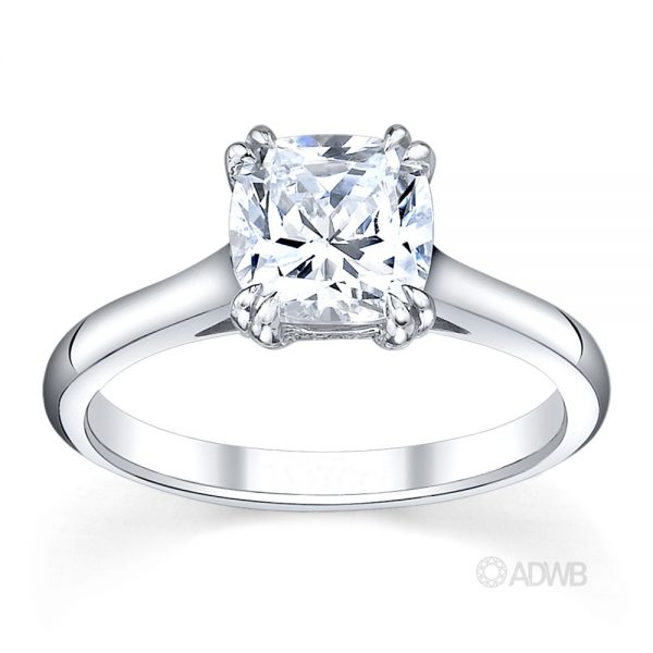 Australian Diamond Broker - Corsica solitaire cushion cut ring