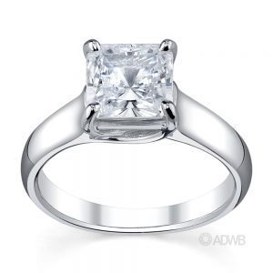 Engagement Rings - fancy cut diamond solitaire