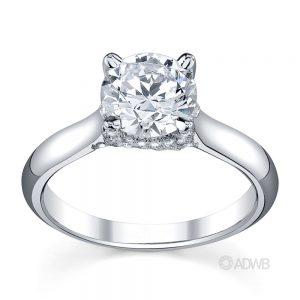 Australian Diamond Broker - Sasha round brilliant cut diamond coronet set ring