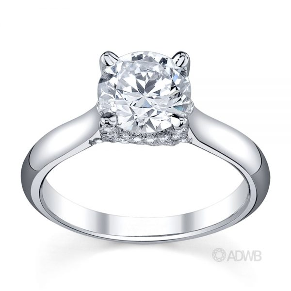 Australian Diamond Broker - Sasha round brilliant cut diamond coronet set ring
