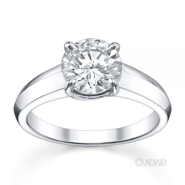Australian Diamond Broker - Surprise round brilliant cut diamond ring