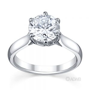 Australian Diamond Broker - Royal crown round brilliant cut diamond ring