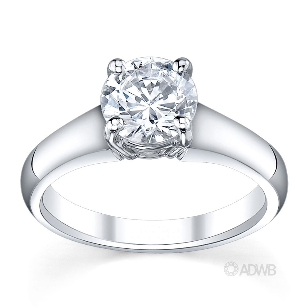 Australian Diamond Broker - Venus 4 claw round brilliant cut diamond solitaire ring