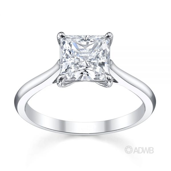 Australian Diamond Broker - Emily princess cut diamond solitaire ring