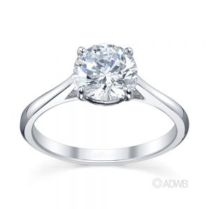 Australian Diamond Broker - Traditional round brilliant cut diamond ring