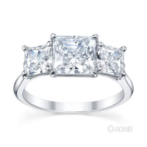 Australian Diamond Broker - Classic 3 stone princess cut diamond ring