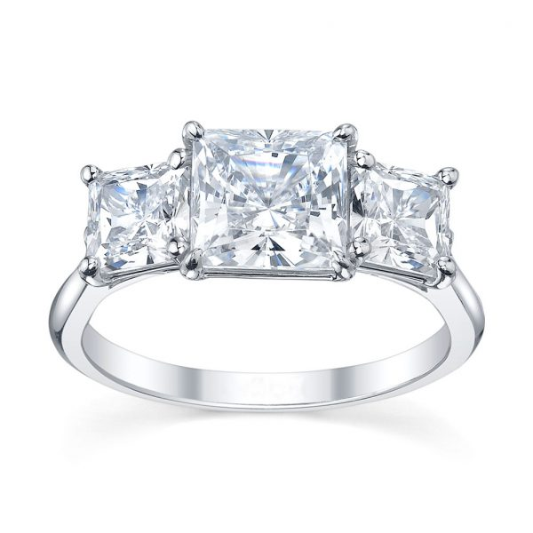 Australian Diamond Broker - Classic 3 stone princess cut diamond ring