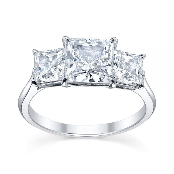 Australian Diamond Broker - Serenity 3 stone princess cut diamond ring