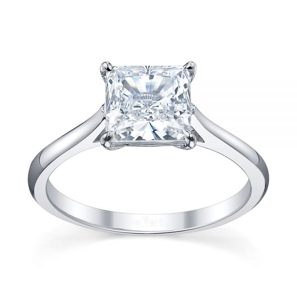 Australian Diamond Broker - Traditional princess cut diamond ring