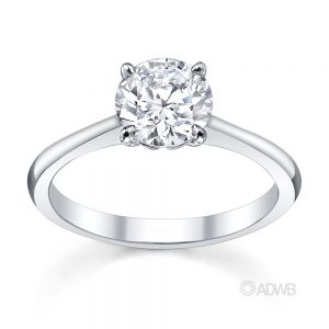 Australian Diamond Broker - Emily round brilliant cut diamond solitaire ring