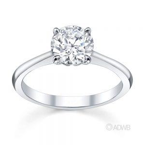 Australian Diamond Broker - Emily round brilliant cut diamond solitaire ring