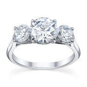 Australian Diamond Broker - Serenity 3 stone round brilliant cut diamond ring