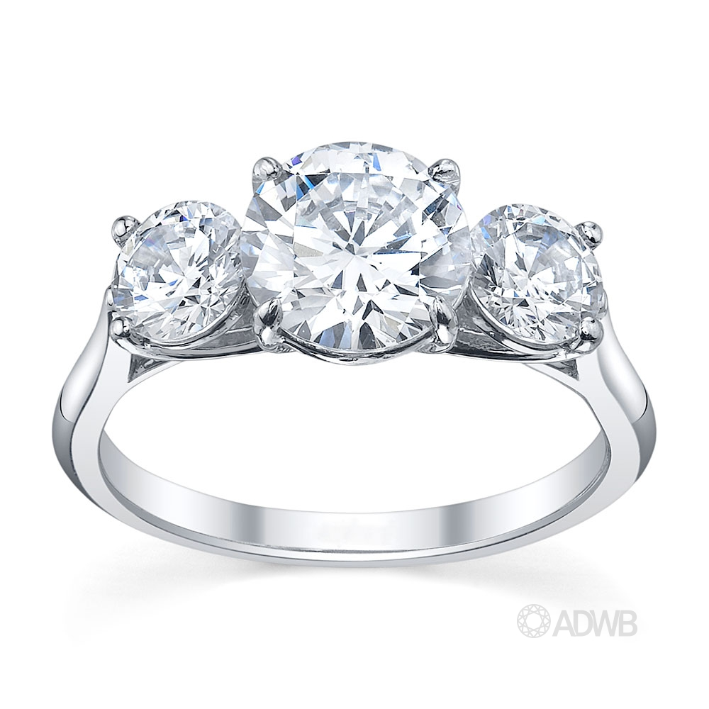 Australian Diamond Broker - Serenity 3 stone round brilliant cut diamond ring
