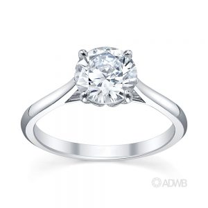Australian Diamond Broker - Coco 4 claw round brilliant cut diamond solitaire ring