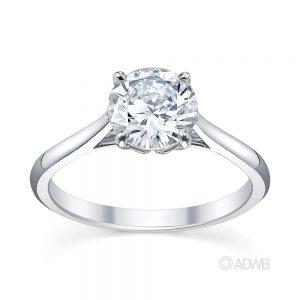 Australian Diamond Broker - Coco 4 claw round brilliant cut diamond solitaire ring