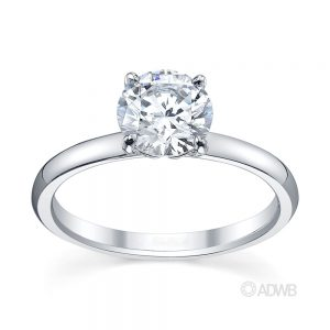 Australian Diamond Broker - Zara round brilliant cut diamond solitaire ring