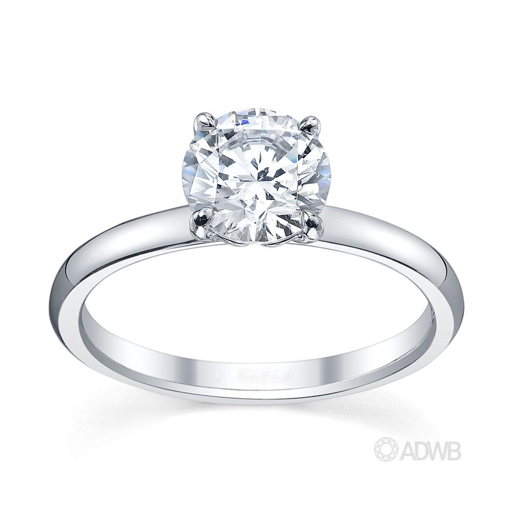 Australian Diamond Broker - Zara round brilliant cut diamond solitaire ring