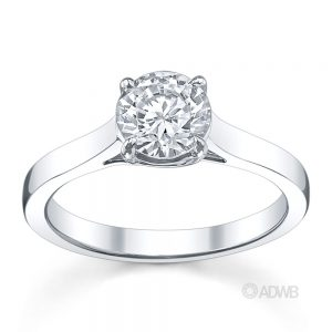 Australian Diamond Broker - Monaco 4 claw diamond solitaire ring