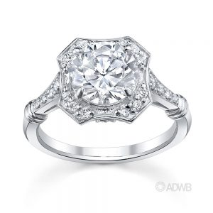 Australian Diamond Broker - Polly round brilliant cut diamond halo ring