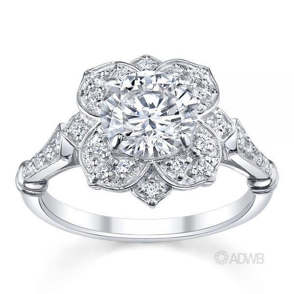 Australian Diamond Broker - Star of Melbourne diamond halo ring