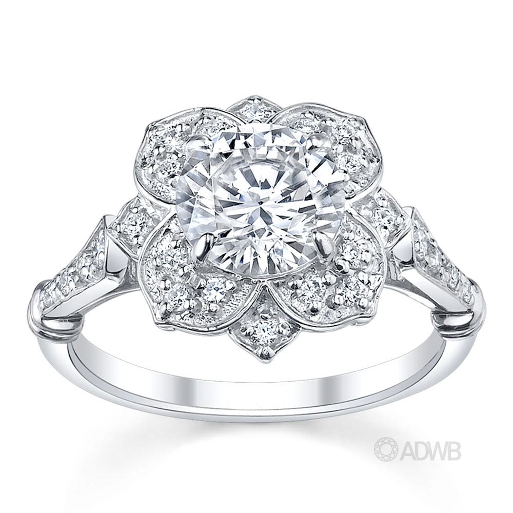 Australian Diamond Broker - Star of Melbourne diamond halo ring