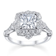 Australian Diamond Broker - Princess cut diamond halo ring