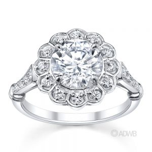 Australian Diamond Broker - Royal Crown halo diamond ring