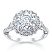 Australian Diamond Broker - Countess diamond halo engagement ring