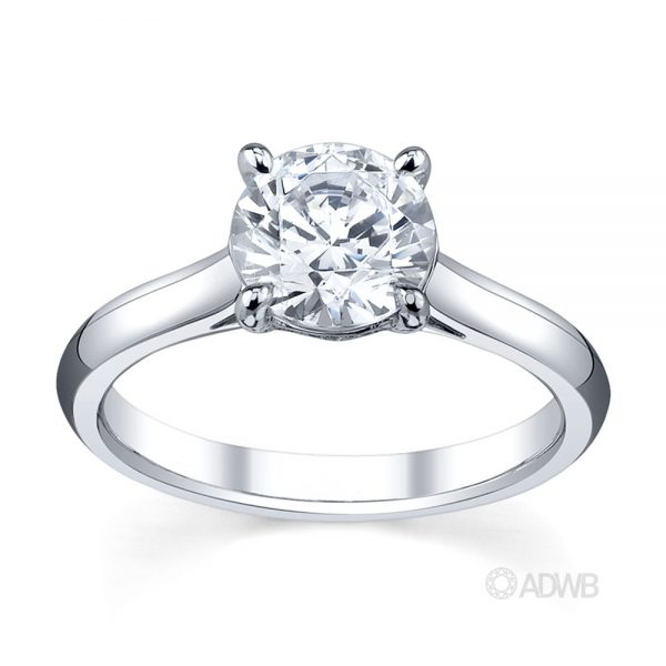Australian Diamond Broker - Caroline 4 claw round brilliant cut diamond solitaire ring