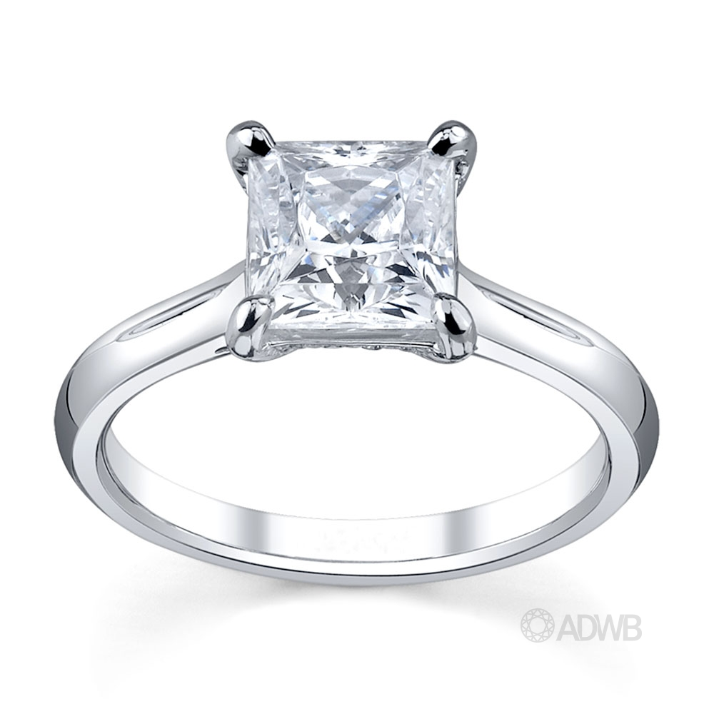 Australian Diamond Broker - Caroline princess cut diamond ring