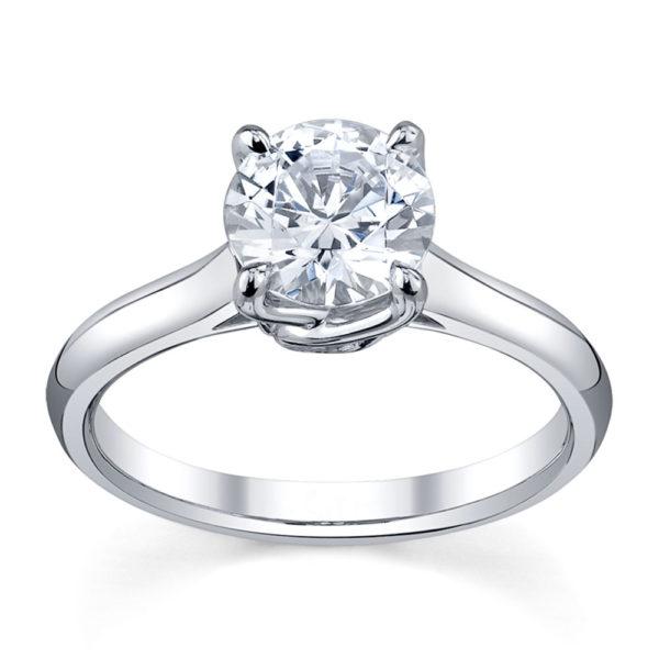 Australian Diamond Broker - Elegant 4 claw round brilliant cut diamond solitaire ring