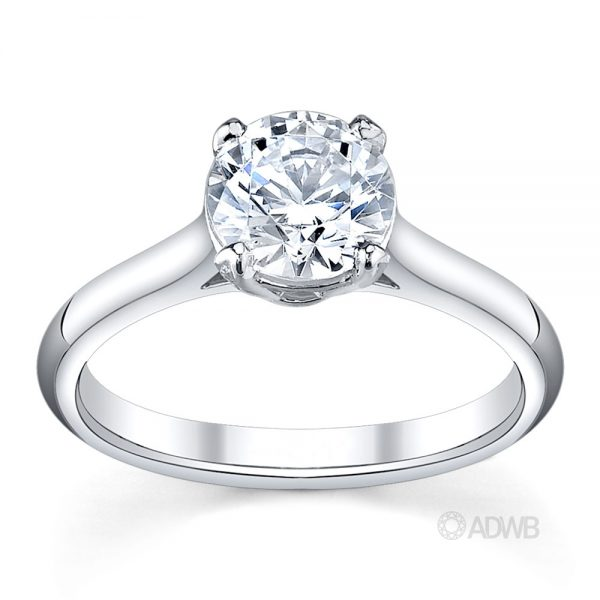 Australian Diamond Broker - Harley 4 claw round brilliant cut diamond solitaire ring
