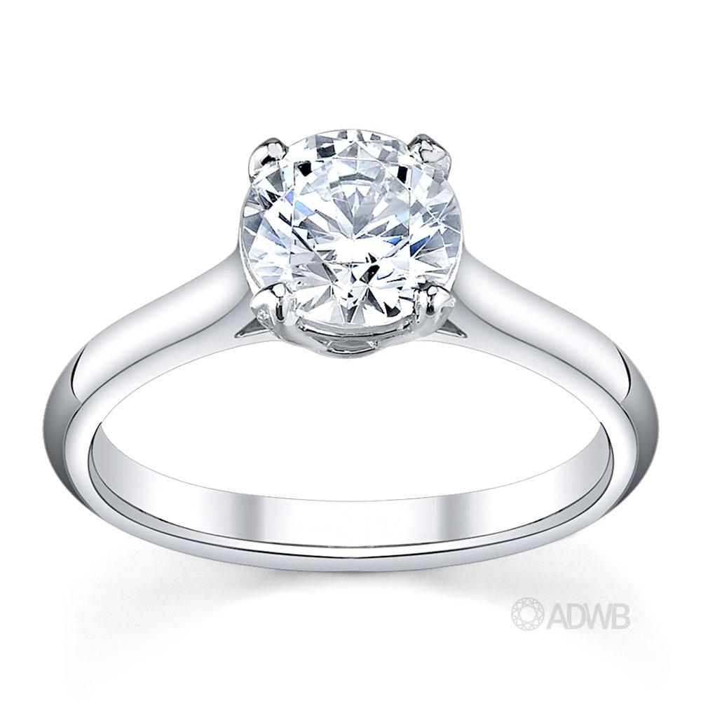 Australian Diamond Broker - Harley 4 claw round brilliant cut diamond solitaire ring
