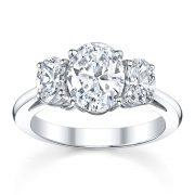 Australian Diamond Broker - Oval cut 3 stone diamond ring
