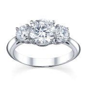 Australian Diamond Broker - Traditional 3 stone round brilliant cut diamond ring