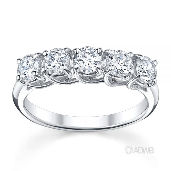 Australian Diamond Broker - Classic 5 stone round brilliant cut diamond ring