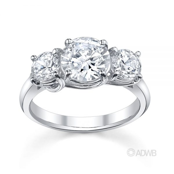 Australian Diamond Broker - Monaco 3 stone round brilliant cut diamond ring