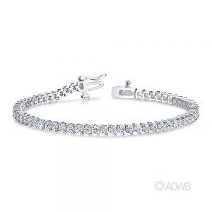 Australian Diamond Broker - 18ct white gold 2 claw round brilliant cut diamond tennis bracelet