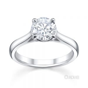 Australian Diamond Broker - Allure 4 claw round brilliant cut diamond solitaire ring