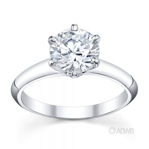 Australian Diamond Broker - Tiff 6 claw round brilliant cut diamond solitaire ring