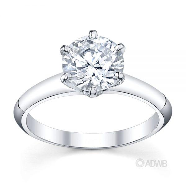 Australian Diamond Broker - Tiff 6 claw round brilliant cut diamond solitaire ring