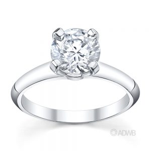Australian Diamond Broker - Grace 4 claw round brilliant cut diamond solitaire ring