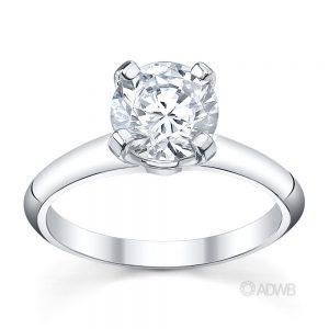 Australian Diamond Broker - Grace 4 claw round brilliant cut diamond solitaire ring