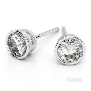 Australian Diamond Broker - Bezel diamond stud earrings
