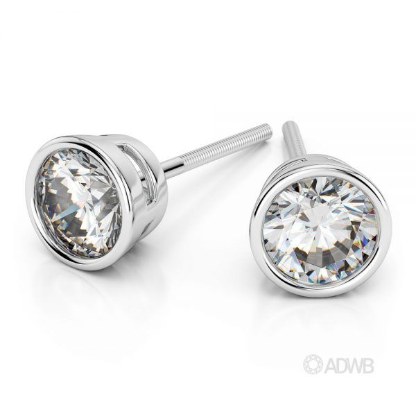 Australian Diamond Broker - Bezel diamond stud earrings