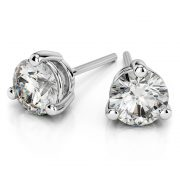 Australian Diamond Broker - Three claw diamond stud earrings
