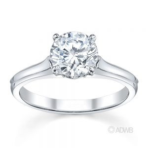 Australian Diamond Broker - Ashley round brilliant cut diamond solitaire ring